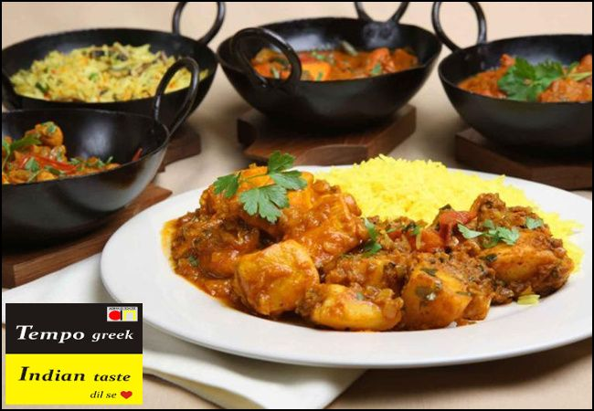 Ινδική και Ελληνική κουζίνα με 7,50€ ανά άτομο για ένα πλήρες μενού, στο